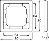 Busch-Jaeger Rahmen 1-fach dav/sws 1721-184
