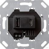 Gira USB-Spannungsversorgung 2-fach Typ A/C Einsatz 236900