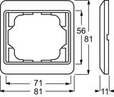 Busch-Jaeger Rahmen 1-fach cremeweiß (ws) UP 1721-24