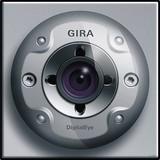 Gira 126565 Farbkamera für Türstation TX_44 (wassergeschützt unterputz) Farbe Alu