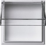 Gira 040966 Adapterrahmen transparenter mit Klappdeckel TX_44 (wassergeschützt unterputz) Reinweiß