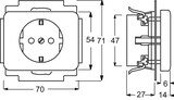 Busch-Jaeger Steckdosen-Einsatz Titan mit Steckanschluss 20 EUC-266