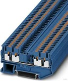 Phoenix Contact Durchgangsreihenklemme 0,14-4qmm, 5,2mm, blau PIT 2,5-QUATTRO BU