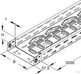 Niedax Kabelrinne RLVC 60.500 (3 Meter)
