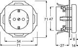 Busch-Jaeger Steckdosen-Einsatz cremeweiß (ws) 20 EUCRD-212