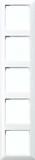 Jung Rahmen 5-fach alpinweiß (aws) waage/senkrecht AS 585 BF WW