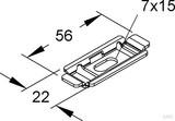 Niedax Befestigungsplatte für Gitterrinnen GRBP 6 F