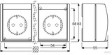 Busch-Jaeger Schuko-Steckdose 3-fach waagerecht 2300/3 EW-53