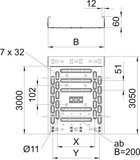OBO Bettermann Kabelrinne mit Verbinder 60x200mm RKSM 620 FS (3 Meter)