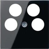 Jung Abdeckung schwarz für 4L-SAT-TV-Dose A 561-4 SAT2 SW