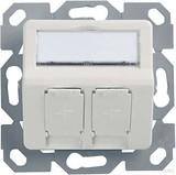 Telegärtner Modul-Aufnahme 50x50 2fach UP/50 alpinweiß (aws) aufbauend H02010A0083