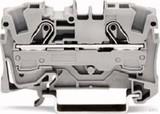 WAGO Durchgangsklemme 0,5-6/10qmm grau, 2L 2006-1201