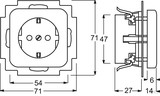 Busch-Jaeger Steckdosen-Einsatz alpinweiß (aws) mit Steckanschluss 20 EUC-214