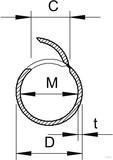 OBO Bettermann Rohr offen M20 lgr, 2m PVC 2953 M20 LGR (2 Meter)