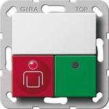 Gira Ruf-/Anwesenheitstaster System 55 Reinweiß 290203