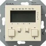 Gira 237001 Raumtemperaturregler 230 V mit Uhr System 55 Cremeweiß
