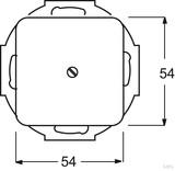 Busch-Jaeger Blindzentralscheibe cremeweiß (ws) mit Tragring 2538-212
