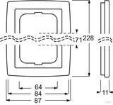 Busch-Jaeger Rahmen 3-fach dav/sws 1723-84