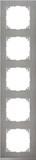 Merten Decor-Rahmen 5-fach Edelstahl/aluminium MEG4050-3646
