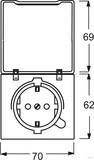Busch-Jaeger Schuko-Steckdoseneinsatz IP44 alusilber 20 EUGKB-33-101