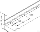 Niedax Trennsteg Höhe=108mm, t=1,5mm RTSKQ 110-1.5 S (3 Meter)