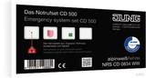 Jung Notrufset mit 4 Rahmen 1fach NRS CD 0834 WW