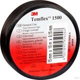 3M Elektroisolierband 19mm x25m schwarz TemFlex 1500 19x25sw