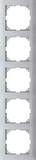 Merten Rahmen 5fach aluminium MEG4050-3660