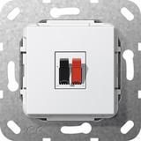 Gira 569203 Lautsprecher Anschluss 1fach Einsatz Reinweiß