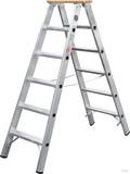 Geis&Knoblauch Stufenstehleiter beidseit. 6 Stufen 51706