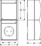 Busch-Jaeger Kombination Steckdose +We. schalter 2601/6/20 EW-53