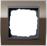 Gira 0211768 Abdeckrahmen 1fach für Anthrazit Event Klar Braun