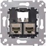 Merten Tragplatte 2fach mit RJ45 Cat6A STP MEG4576-0022