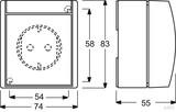 Busch-Jaeger Schuko-Steckdose grau blgn AP, mit Klappdeckel 20 EW-53