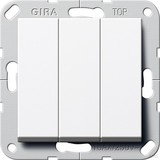 Gira 284403 Taster 3fach Schließer 1-polig System 55 Reinweiß
