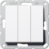 Gira 283203 Wippschalter Wechsel 3fach System 55 Reinweiß