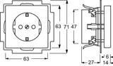 Busch-Jaeger Steckdosen-Einsatz schwarz matt 20 EUC-885