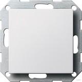Gira 026803 Blindabdeckung mit Tragring System 55 Reinweiß glänzend