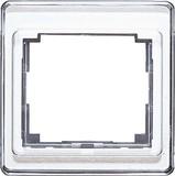Jung Rahmen 1-fach silber senkrecht SL 581 SI