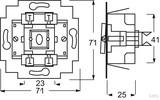 Busch-Jaeger Wechselschalter-Einsatz 10A, mit Beleuchtung 2000/6 USGL