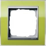 Gira 0211746 Abdeckrahmen 1fach für Farbe Alu Event Klar Grün