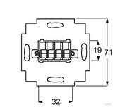 Busch-Jaeger Lautsprecher-Anschlussdose 2fach, weiß 0248/02-101