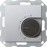 Gira 0390203 Raumtemperaturregler 230 V mit Öffner E22 Aluminium