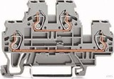 WAGO Doppelstockklemme 0,08-2,4mmq grau L/L 870-501