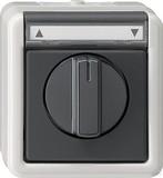 Gira 015430 SchalterTaster Jalousie 1-polig wassergeschützt Aufputz Grau