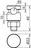 Dehn+Söhne KS-Verbinder NIRO NIRO für Rd 6-10mm 301 019