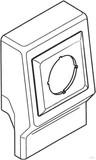 Rehau Einzeltank leer cremeweiß (cws) mit Blende 12616581150