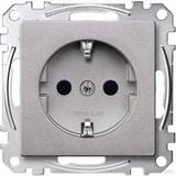 Merten SCHUKO-Steckdose aluminium Berührungsschutz MEG2300-0460