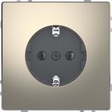 Merten SCHUKO-Steckdose nickelmet mit Steckklemmen MEG2301-6050