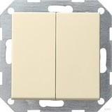 Gira 012501 Tastschalter Serien System 55 Cremeweiß glänzend